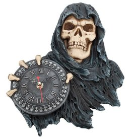 NemesisNow Gothic clock reaper Face of Time