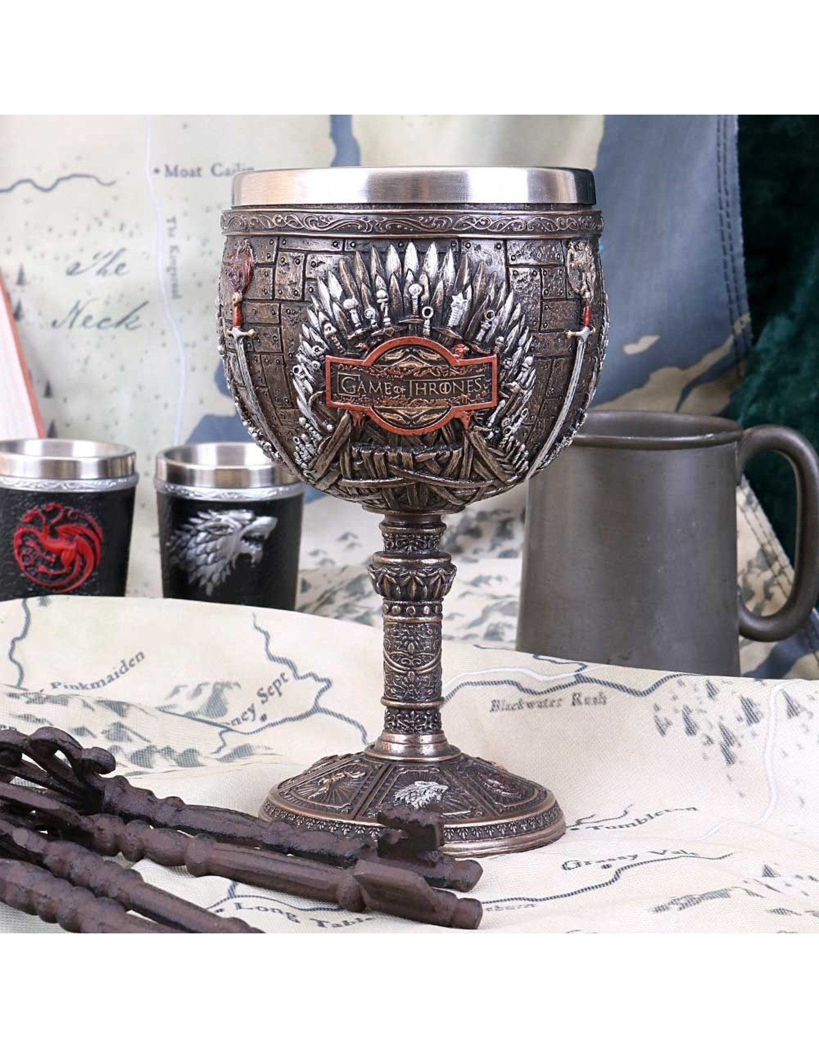 NemesisNow Tankards and Goblets - Game of Thrones Goblet Iron Throne