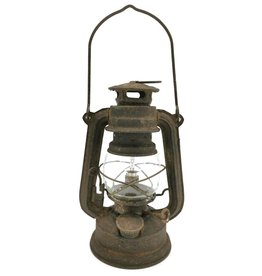Stormlantaarn Vintagelook Storm lantern Vintagelook metal - small with LED light