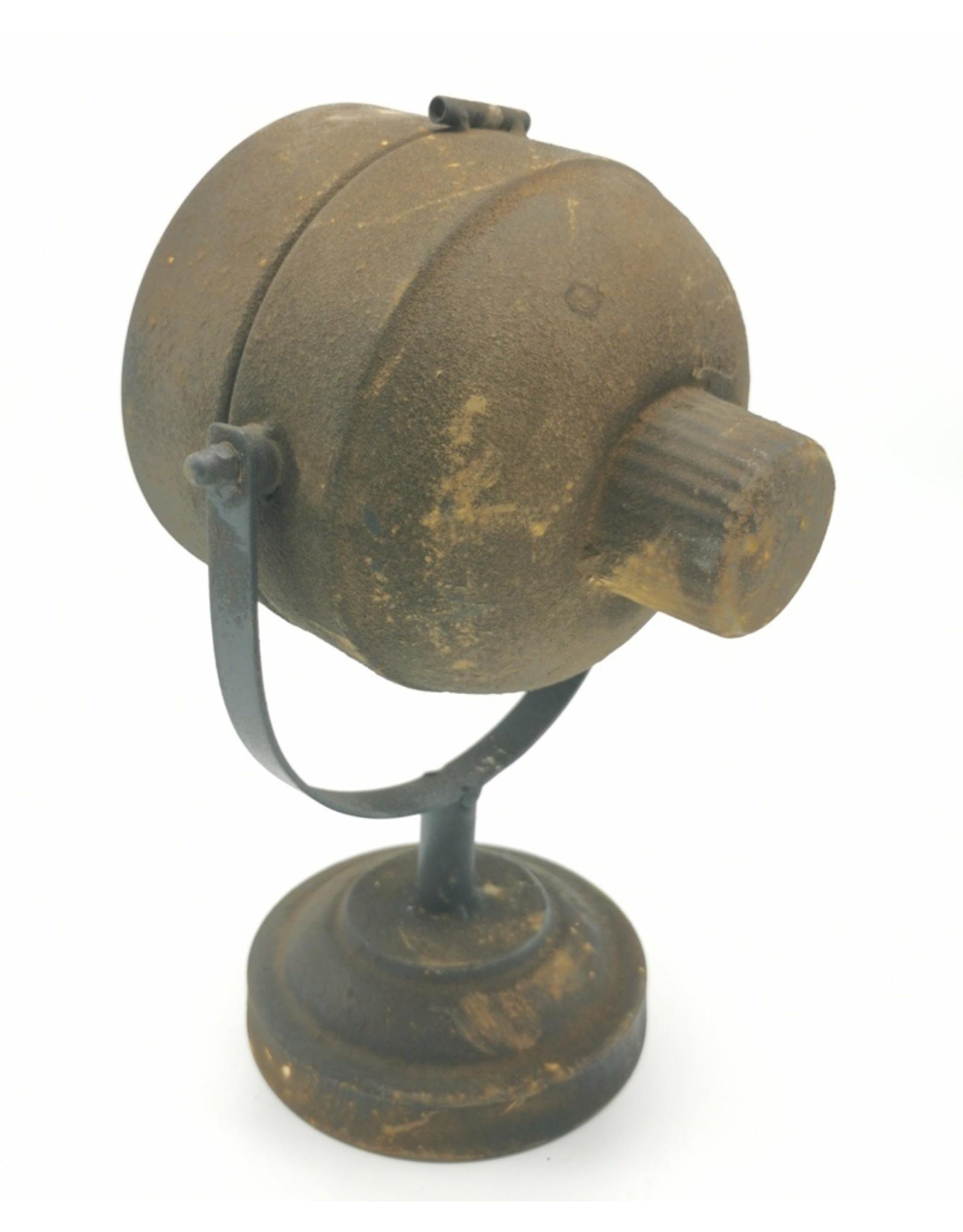 Trukado Miscellaneous - Klok Koplamp Roestbruin Metaal, Industriele look