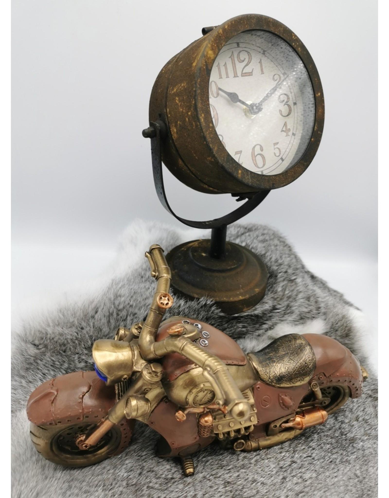 Trukado Miscellaneous - Clock Headlight Rust Brown Metal, Industrial look