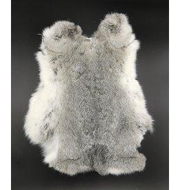 Konijnenvacht Rabbit fur grey 30cm x 40cm (soft and odorless)
