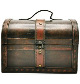 Schatkist Wooden Treasure chest(s)  with Leather Straps (set of 2)