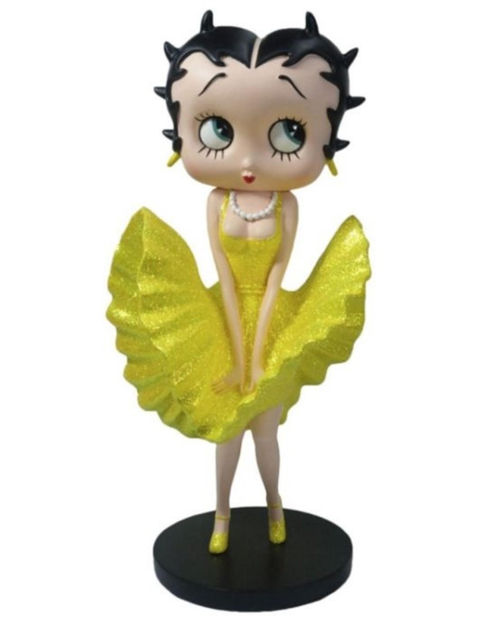 Fleischer Studios Betty Boop collectables - Betty Boop Cool Breeze gele glitter jurk