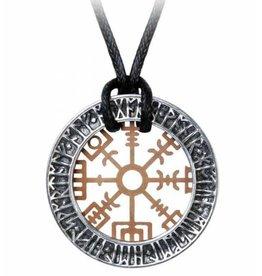 Alchemy Nordic stave wayfinder necklace Niu Heimar Vegvisir - Alchemy