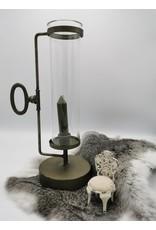 Trukado Miscellaneous - Kandelaar met Glazen Kap Industriele look
