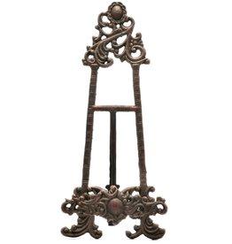 miniatuur schildersezel van gietijzer Miniature Cast Iron Baroque Painter's Easel