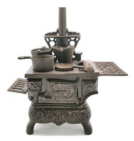 gietijzeren miniatuur vintage fornuis Miniature Cast Iron Stove Vintage look (medium)