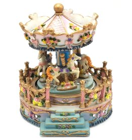 Vintage muziekdoos carrousel Music box Carousel medium