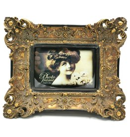 Barok Fotolijst Photo frame Baroque style with bronze accents