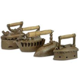 Trukado Coal Irons Miniatures - set of 4, cast iron