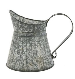 Trukado Brocante Metalen Kan - grijs