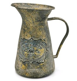 Melkkan antiek stijl, metaal Melkkan Antiek Stijl met bronzen accenten, metaal