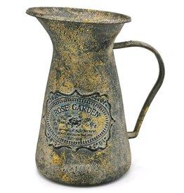 Melkkan antiek stijl, metaal Milk Jug Antique Style with Bronze Accents, metal