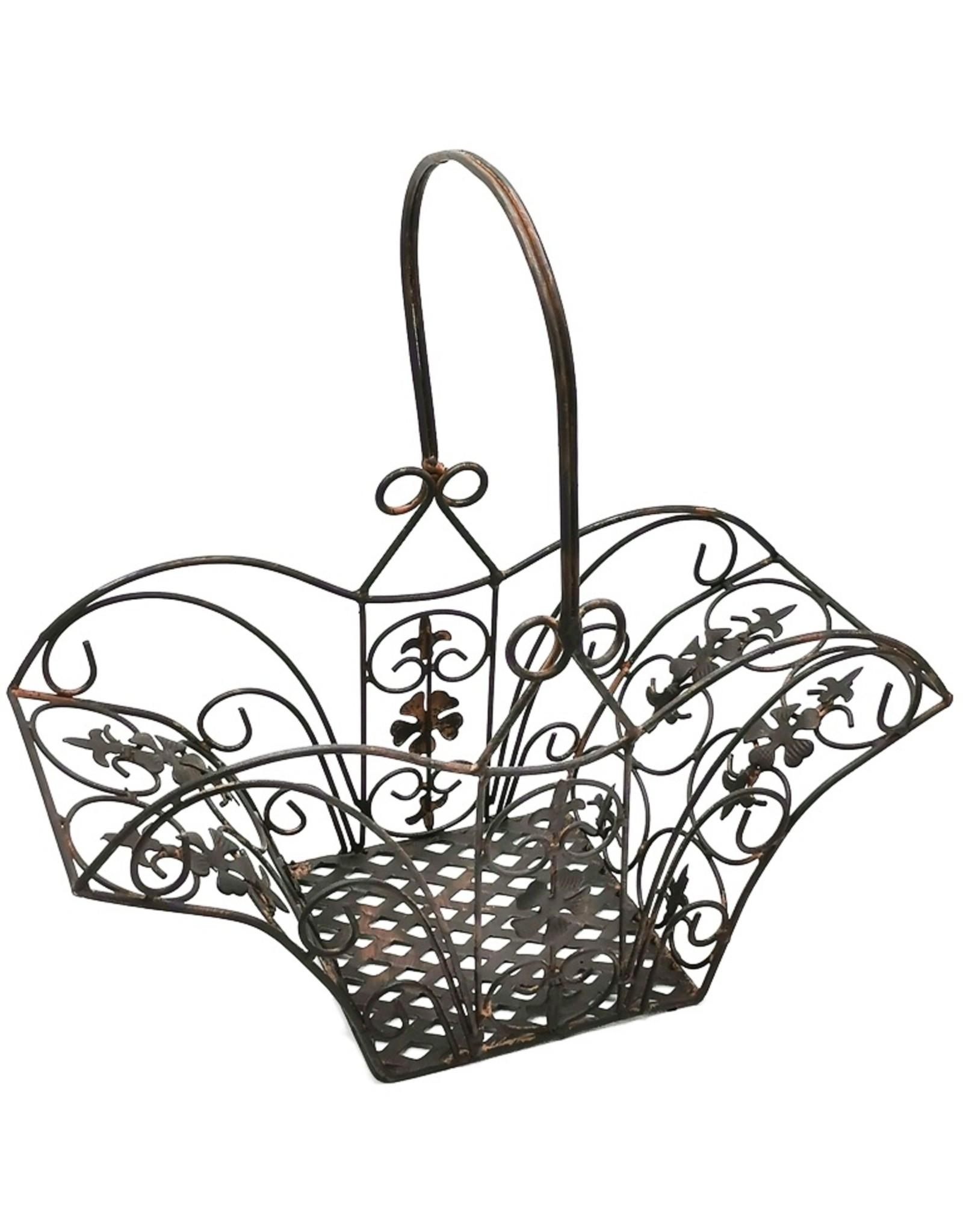 Decoratieve metalen manden Miscellaneous - Decorative metal Vintage basket - set of 3