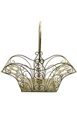 Brocante metalen mand Miscellaneous - Decorative brocante metal basket - set of 3