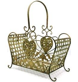 Vintage ijzeren manden zware kwaliteit Iron Vintage baskets - set of 2, heavy quality