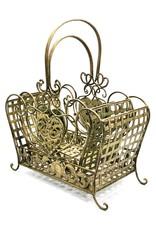 Vintage ijzeren manden zware kwaliteit Miscellaneous - Iron Vintage baskets - set of 2, heavy quality