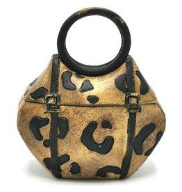 Miniatuur handtas met dierenprint doosje Handbag with animal print storage box