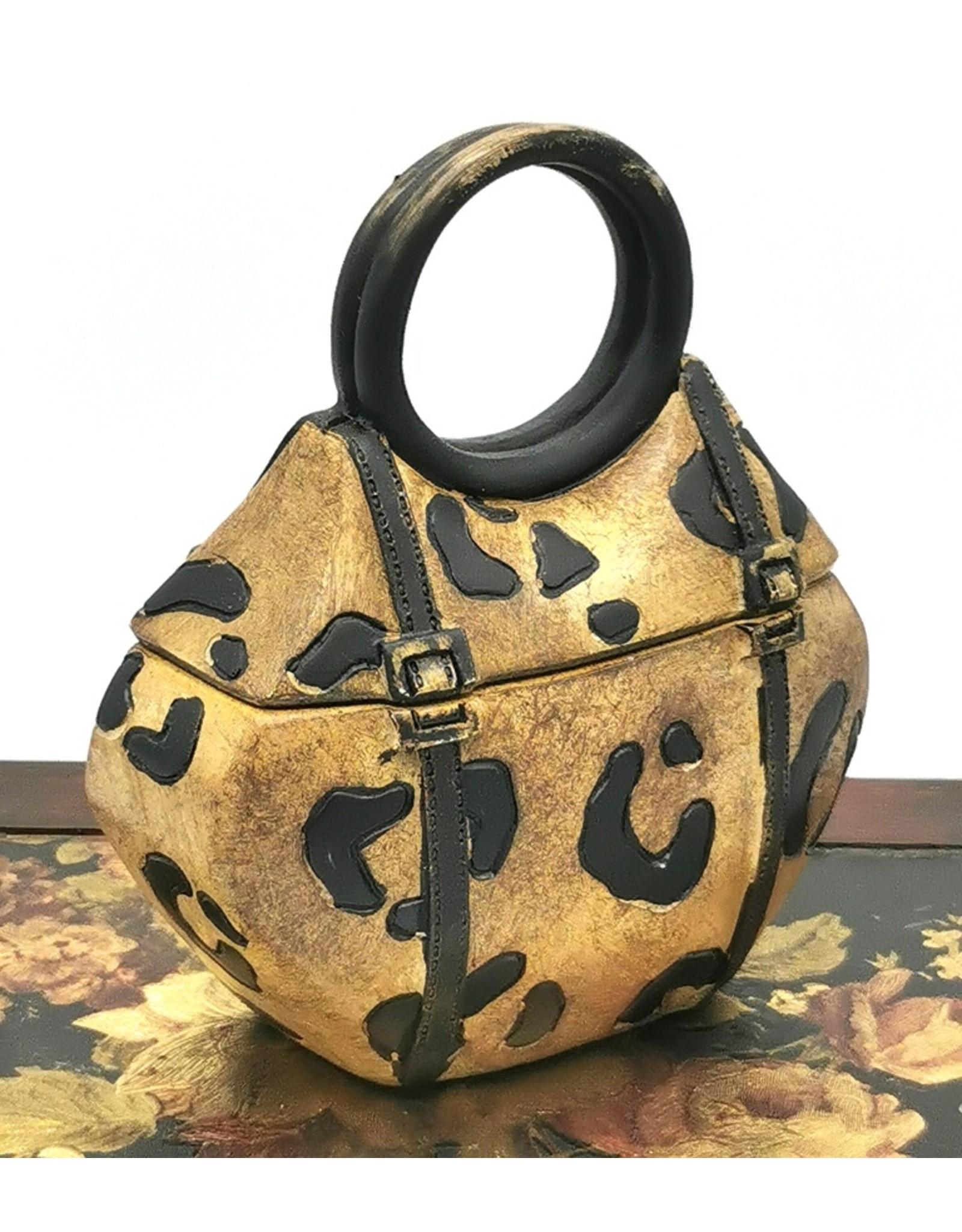 Miniatuur handtas met dierenprint doosje Giftware Figurines Collectables - Handbag with animal print storage box