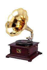 Grammofoon Miscellaneous - Gramophone - Old-fashioned record player with horn