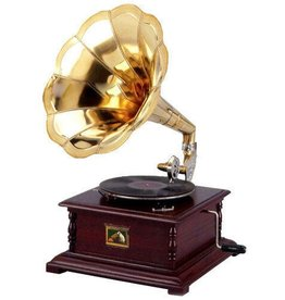 Grammofoon Gramophone - Old-fashioned record player with horn