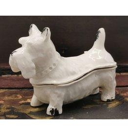 Juwelendoosje hond Jewellery Box Dog - Brocante (White Iron)
