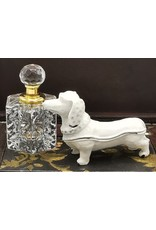 Juwelendoosje Teckel Miscellaneous - Jewellery Box Dachshund - Brocante ( white iron)