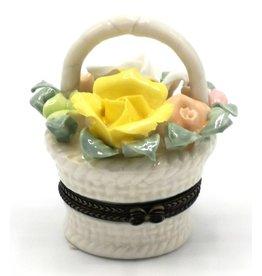 pillendoosje Pillbox Basket with Roses - porcelain