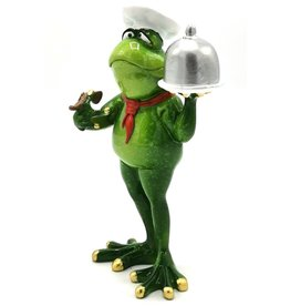 Kikker Chef-Kok beeld Frog Chef  figurine - 19cm, polyresin