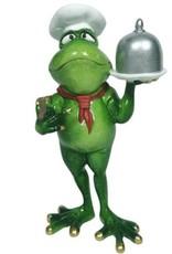 Kikker Chef-Kok beeld Giftware, beelden, collectables - Kikker Chef-Kok beeld - 19 cm, polyresin