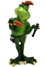 Kikker Kapper beeld Giftware Figurines Collectables - Frog Hairdresser figurine - 19 cm, polyresin