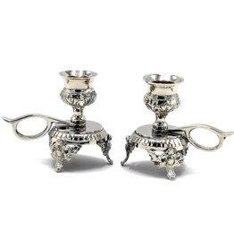 Barok Baroque mini candlesticks - set of 2, silver color