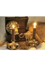 Kandelaar met oor en schotel Miscellaneous - Candlestick with handle and saucer, brass