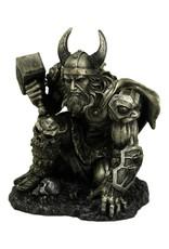 Nemesis Now Giftware Beelden Collectables  - Donder van Thor beeld metallic  19cm