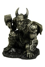 Nemesis Now Giftware Figurines Collectables - Thunder of Thor statue metallic 19cm