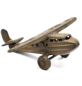 Gietijzeren vliegtuig Miniature Aeroplane Vintage look, cast iron