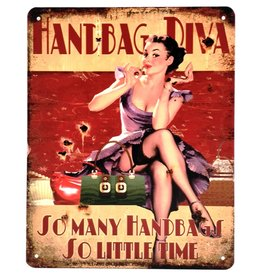 Metalen bord Tassen Diva Metal bord Handbag Diva