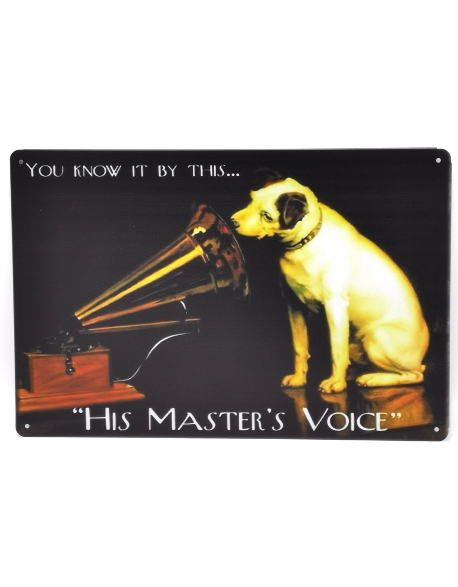 Jack Russel grammofoon metalen bord Miscellaneous - His Master's Voice Metalen bord Nipper