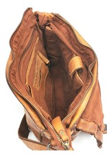 HillBurry Leather Shoulder bags  Leather crossbody bags - HillBurry Leather School bag Washed Leather (cognac)