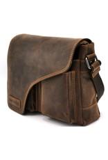 HillBurry Leather shoulder bags Leather crossbody bags - HillBurry Leather messenger bag with cover (medium)