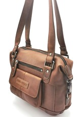 HillBurry Leather Shoulder bags  Leather crossbody bags - HillBurry Leather shoulder bag with long handles brown