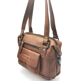 HillBurry HillBurry shoulder bag with long handles brown