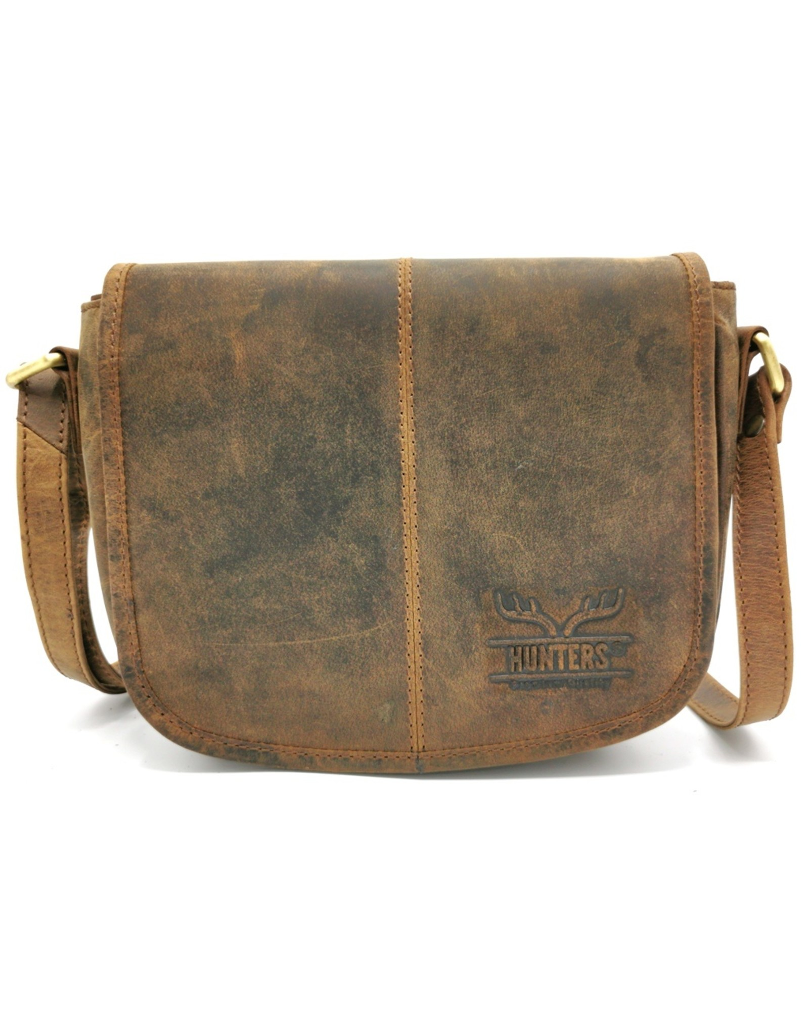 Hunters Leather Shoulder bags  leather crossbody bags - Hunters Leather Saddlebag Buffalo Leather