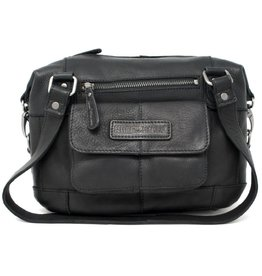 HillBurry HillBurry leather shoulder bag medium (black)
