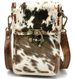 Heuptas-festivaltasje-koeienhuid Cowhide phone bag-crossbody-belt bag