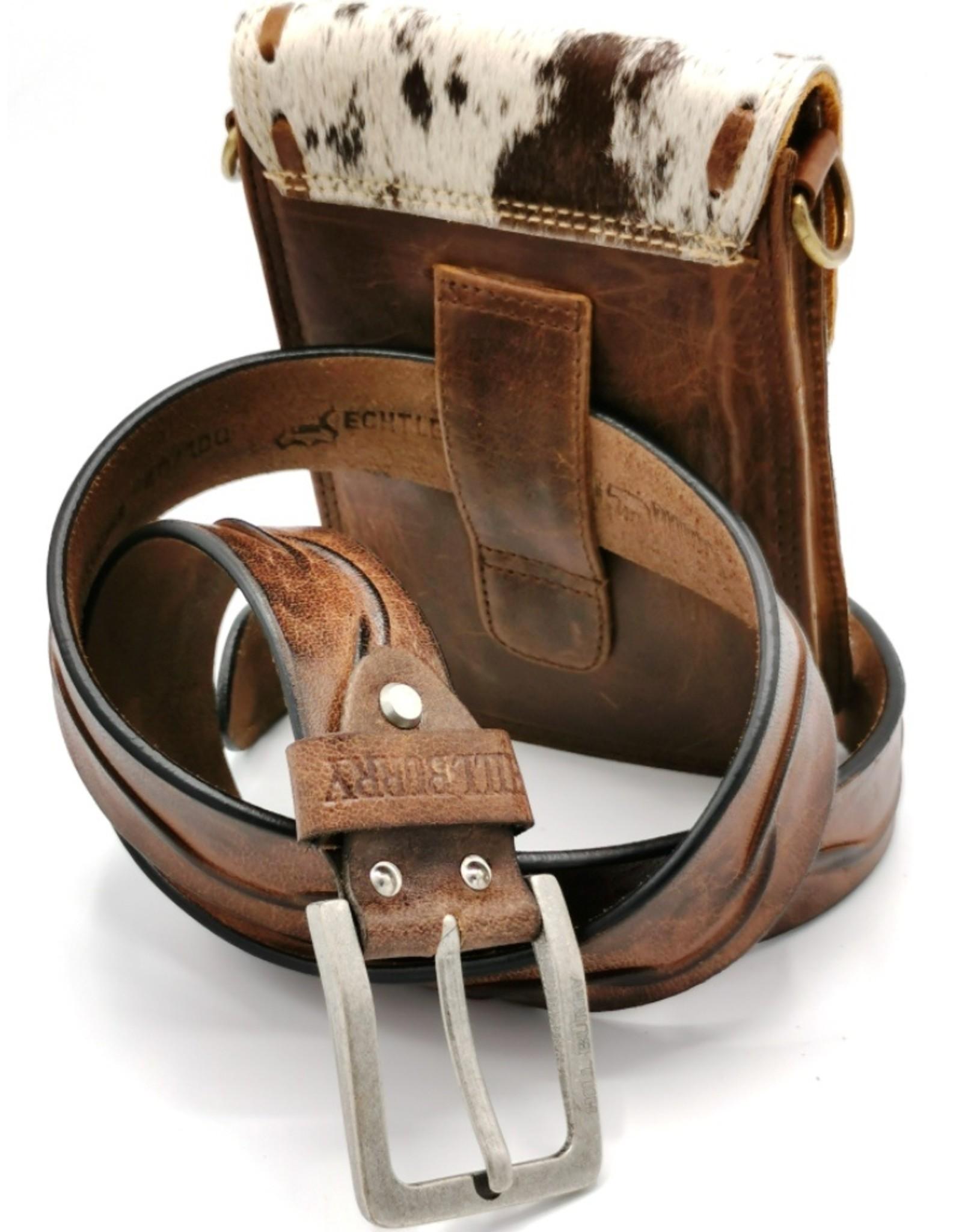 Heuptas-festivaltasje-koeienhuid Leather Festival bags, waist bags and belt bags - Cowhide phone bag-crossbody-belt bag
