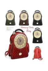 Magic Bags Steampunk bags Gothic bags - Backpack with Real Clock brown