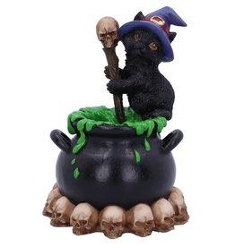 Nemesis Now Spook witch cat with cauldron 12cm