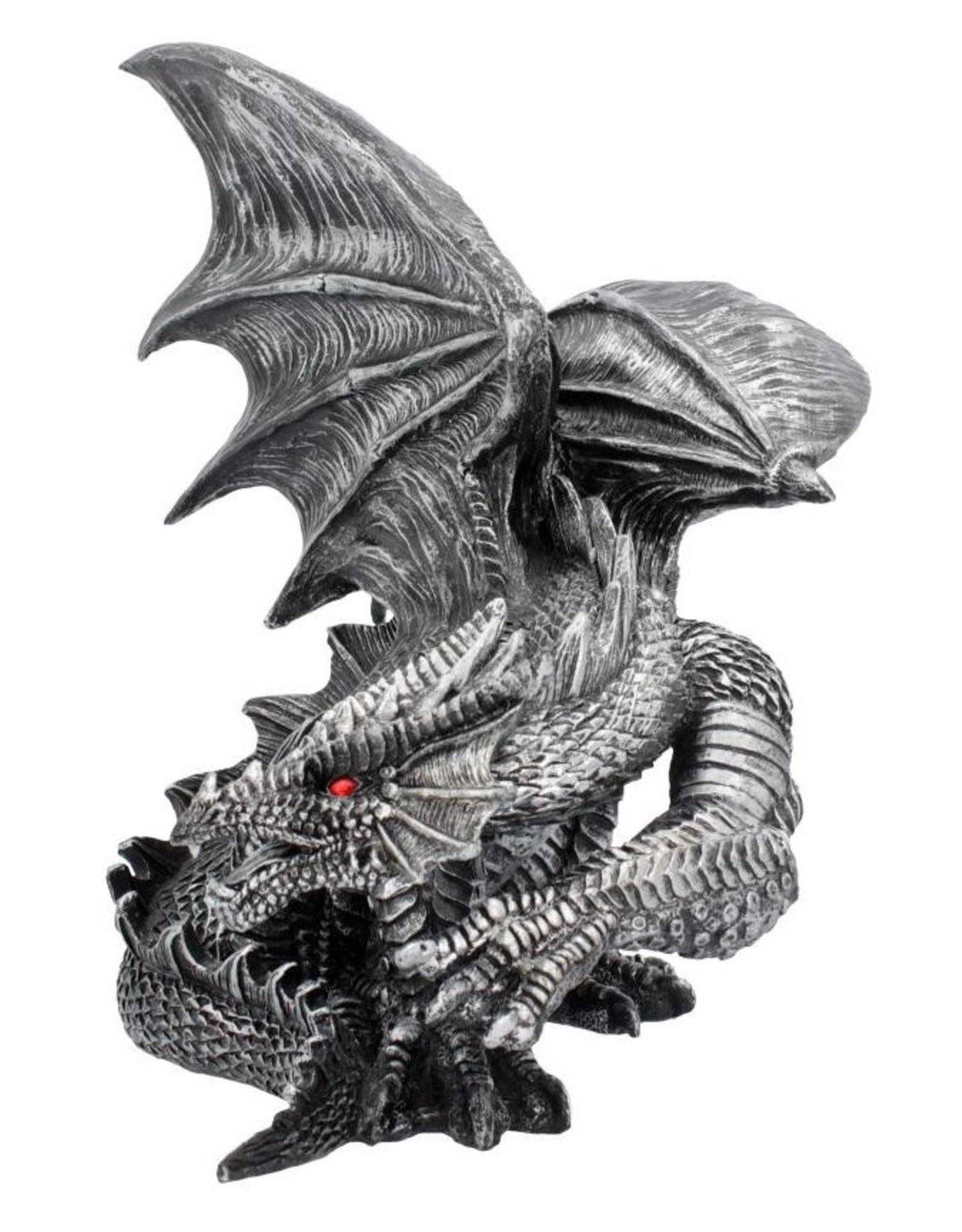 NemesisNow Giftware Beelden Collectables  - Obsidian Draak 25cm Nemesis Now